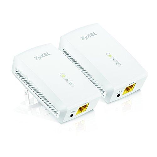 ZyXEL 1000 Mbps Powerline AV2 Gigabit Adapter, Starter Kit - 2 Units (PLA5206KIT)