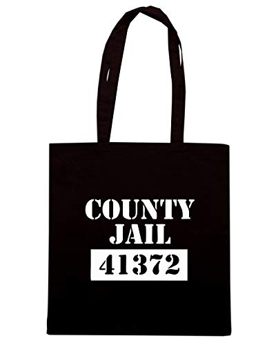 COUNTY Nera Borsa Shirt FUN1049 Shopper JAIL Speed PRISONER PTqtfX5xfw