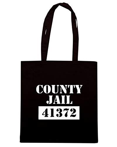 Speed Shirt Borsa Shopper Nera FUN1049 COUNTY JAIL PRISONER