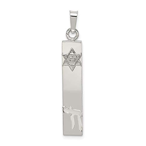 (925 Sterling Silver Jewish Jewelry Torah Mezuzah Scroll Star Chai Pendant Charm Necklace Religious Judaica Fine Jewelry Gifts For Women For Her)