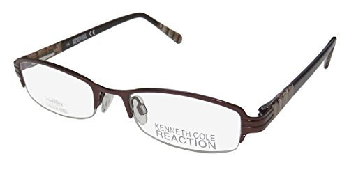 Kenneth Cole New York KC0708 Eyeglass Frames - Shiny Dark Brown Frame, 48 mm Lens Diameter