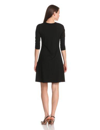 Karen Kane Women's 3/4 Sleeve A-Line Dress, Black, Medium by Karen Kane (Image #2)