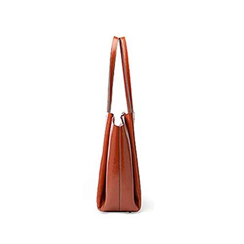Vintage Bag leer tassen echt Handtassen Vrouwelijke blauw Dames Tas rood Schouder 100 Messenger Yfvwq