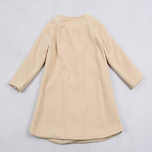 bb30143d96 0-5T Autumn Winter Kids Baby Girls Solid Outerwear Cloak Cape Button Jacket  Warm Fashion