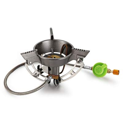 Upgraded Outdoor Foldable Stove Gas Burner Camping Cooker for Camping Hiking BBQ