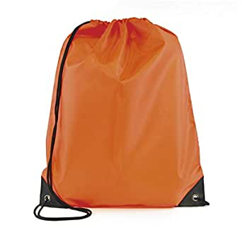 Drawstring Gym Bag School Library Swimming Travel Kids PE Swim Sport Backpack Orange