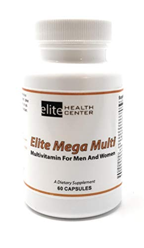 Elite Health Center Mega Multi, Multivitamin Supplement for Men & Women – 60 Capsules