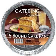 Handi Foil Round Cake Pan, 15 inch -- 12 per case. by Handi-Foil