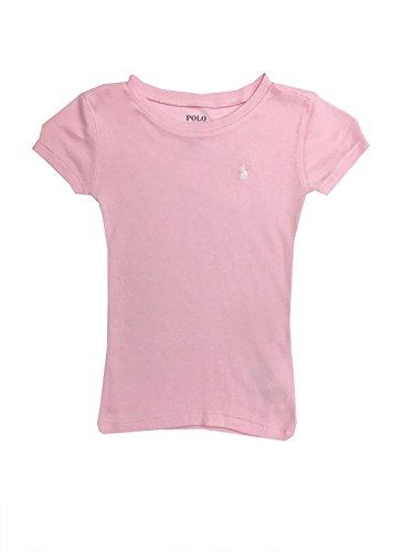 Polo Ralph Lauren Girls Crewneck T-Shirt (16, Carmel Pink)
