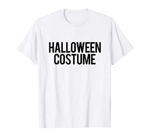 Retro Generic Halloween Costume | Black & White Label Tshirt -