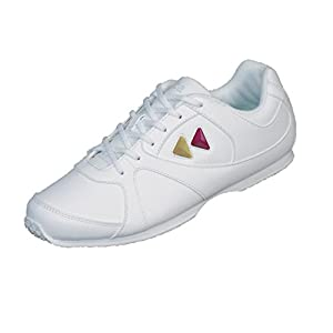 Kaepa Women's Cheerful Cheer Shoe with Color Change Snap in Logo, White, Size 8