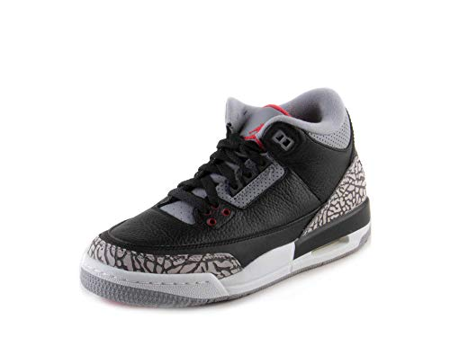 Jordan Nike Kid's Air 3 Retro OG BG Black/Red 854261-001 (Size: 5Y) -