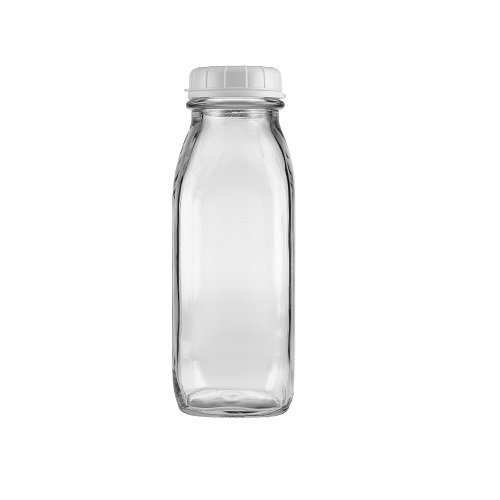 Milk Glass Drop (17 Oz Glass Water Bottle Virtually Unbreakable with Thick Sides)
