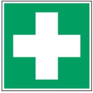 Erste hilfe symbol  Aufkleber Piktogramm Erste Hilfe Folie selbstklebend 2 x 2cm 10 ...