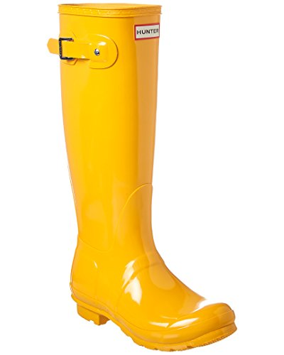 Hunter WFT1000RGL-RYL: Womens Original Tall Gloss Yellow Waterproof Rain Boot (7 B(M) US - Hunter Boots Yellow Rain