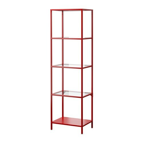 Review Ikea VITTSJÖ Shelving unit, red, glass 2028.21114.226 By Ikea by Ikea