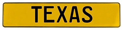 Vintage Parts 547637 Wall Art (Yellow Stamped Street Sign Mancave (Texas Street Sign)