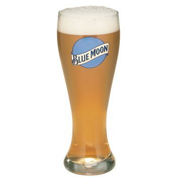 Blue Moon Glass (Blue Moon 16 Oz Pilsner Beer Glass Set of 2)