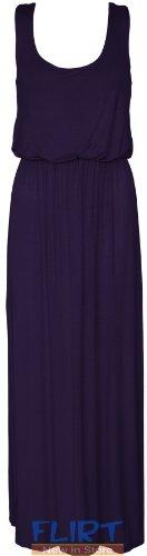 Womens Plus Big Size Balloon Maxi Dress Ladies Jersey Racer Back Vest Long Skirt (Balloon Skirt Dress)