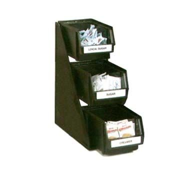 (Vollrath 4842-06 Condiment Bin Organizer System - 3 Tier, (3) 8