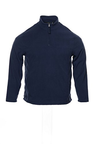 1/2 Zip Navy Fleece - Club Room Navy Mens 1/2 Zip Mock Neck Pullover Fleece Sweater Blue 2XL