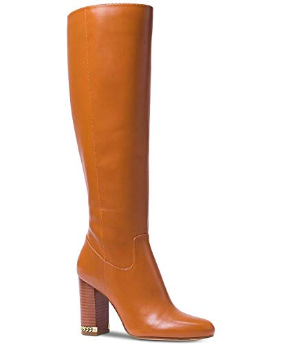 Michael Kors Mk Women's Knee High Tall Leather Walker Boots, Acorn, Size ()