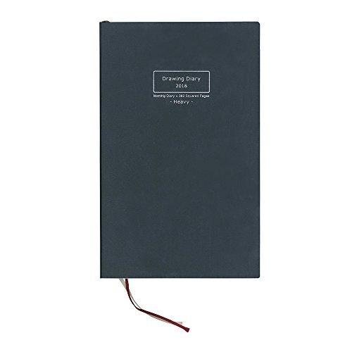 コクヨ 手帳 2018 マンスリー ドローイングダイアリー A5変形 ヘビー 黒 KE-SP1-18D Japan   B077L45SDP
