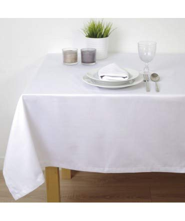 10XDIEZ Mantel Saten Blanco hostelería - Manteleria - 120cm x 160cm