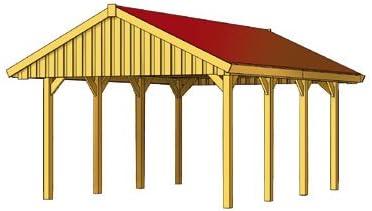 Skan Sauerland - Porche de madera (430 x 600 cm): Amazon.es ...