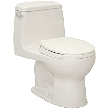 TOTO MS853113E01 Eco Ultramax Round Front One Piece Toilet Cotton White