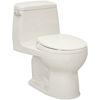TOTO MS853113E01 Eco Ultramax Round Front One Piece Toilet Cotton White