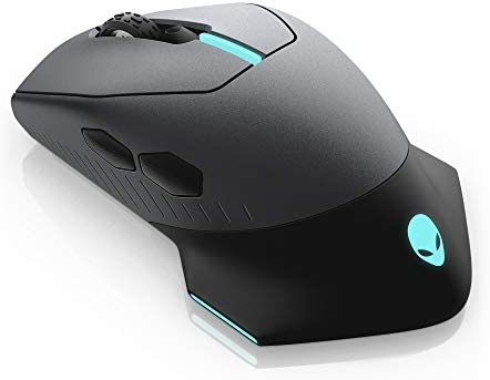 Alienware Wired/Wireless Gaming Mouse AW610M: 16000 DPI Optical Sensor – 350 Hour Rechargeable Battery Life – 7 Buttons – 3-ZONE Alienfx RGB Lighting 31ON5m4Mo0L