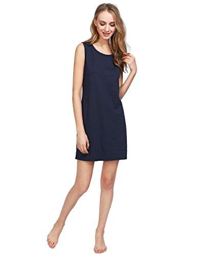 Latuza Women's Cotton Sleeveless Nightgown Short Sleep Dress XL (Cotton Sleeveless Nightgown)