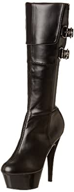 Pleaser Women's Kiss-2007 Knee-High Boot,Black,6 M US