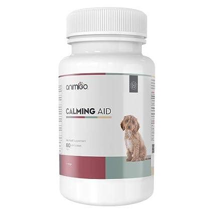 Animigo Ayuda Calmante para Perros 60 Comprimidos Masticables Naturales Relajantes