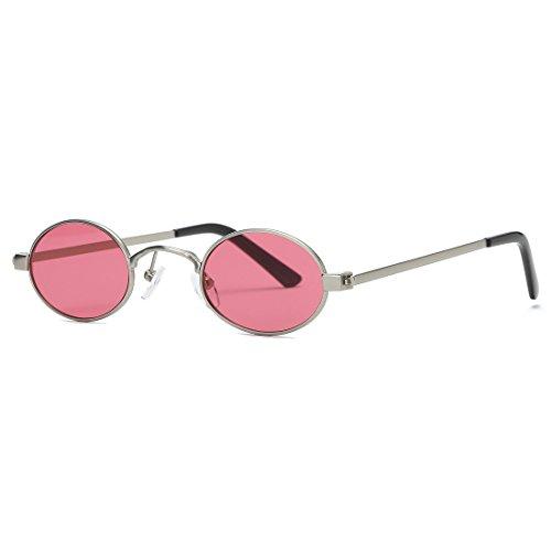 107f1c2da43 Kimorn Sunglasses Small Round Metal Frame Oval Candy Colors Unisex Sun  Glasses K0577