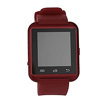 Pudincoco Negro Blanco Rojo Acero + Silicon Sports Smart Watch ...