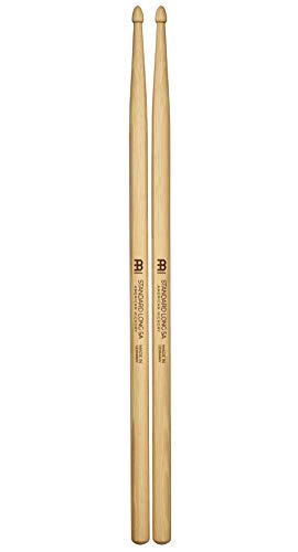 Meinl Stick & Brush Drumsticks, Standard Long 5A - American Hickory with Acorn Shape Wood Tip - MADE IN GERMANY (SB103)