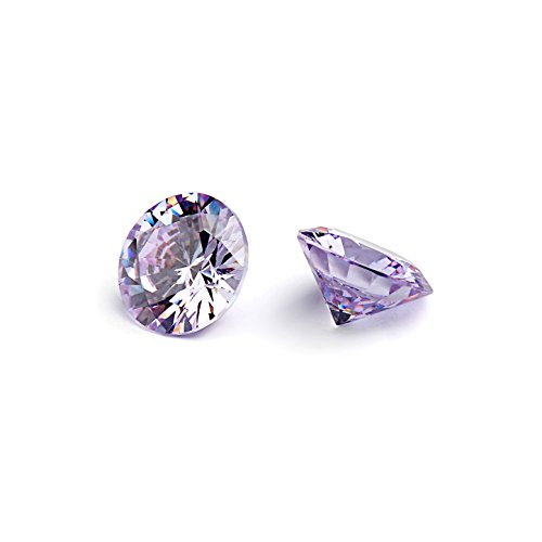 10mm Flawless Lavender Cubic Zirconia Stones Round Brilliant-Cut Cz Stone Settings