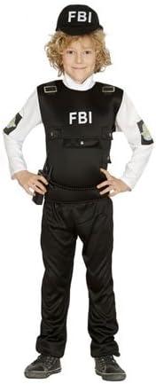 Guirca Disfraz de Policía FBI para niño S-(4/6 años): Amazon.es ...