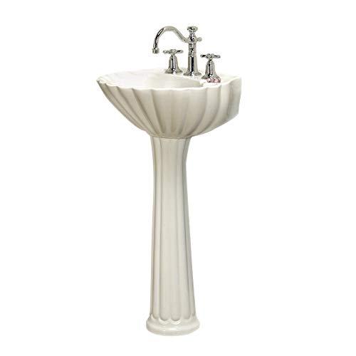 Barclay 3-588WH Bali Pedestal Sink