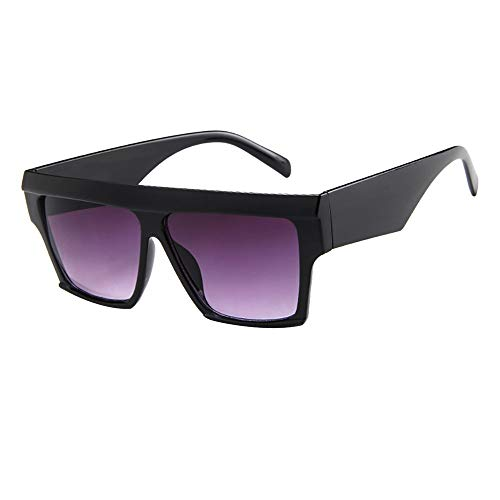 (HTDBKDBK Women Men Vintage Retro Glasses Unisex Big Frame Sunglasses Eyewear)
