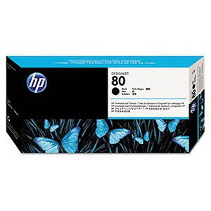 HP Genuine Brand Name, OEM C4820A (HP80) HP 80 Black Printhead for DesignJet 1050c, DesignJet 1050c Plus, DesignJet 1055C, DesignJet 1055cm, DesignJet 1055cm Plus Printers
