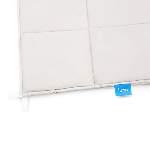Luna Weighted Blanket (15 lbs | 60'' x 80'')•Scientifically Engineered for Stress, Anxiety, ADHD, Autism, Deeper Sleep• 100% Organic & Breathable Cotton • 100 Day Free Return by Luna Wellness (Image #3)