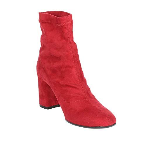 Tacco 002 Stivaletti ce Rosso Pregunta Donna Ilp65301 xIA6Hwwq