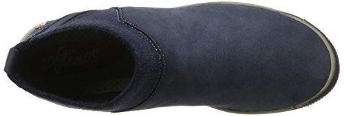 Softinos Imi412sof Washed - Botas plisadas Mujer azul (navy)
