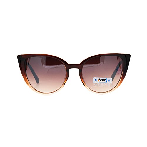 Isurf Eyewear Wharf Fashion Occhiali Gatta Moda MontMarrone Sole Lente Da Farfalla Sfumata Canary Outfit Trapsarente Modello Forma A Marca 9DHIE2