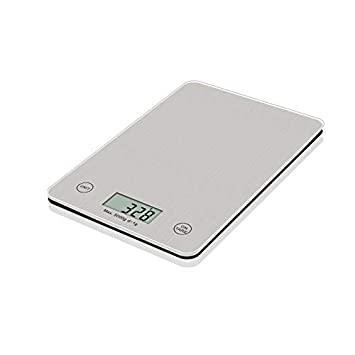 ULTRA FLAT SUPER-TEMPERED GLASS DIGITAL ELECTRONIC LCD KITCHEN SCALES TO 5KG