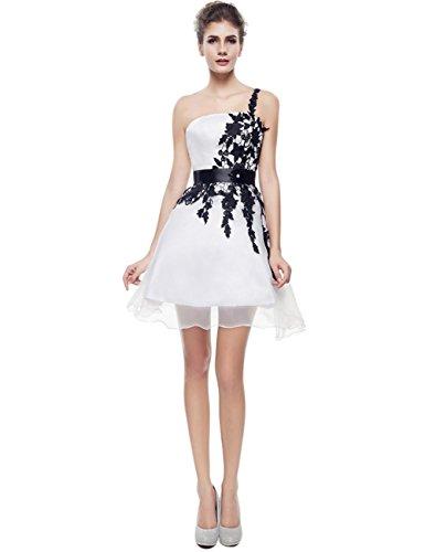 Gowns Short Cocktail Sexy Strapless Appliques Ivory Sleeveless Dress Satin BessWedding xCYUBwqw