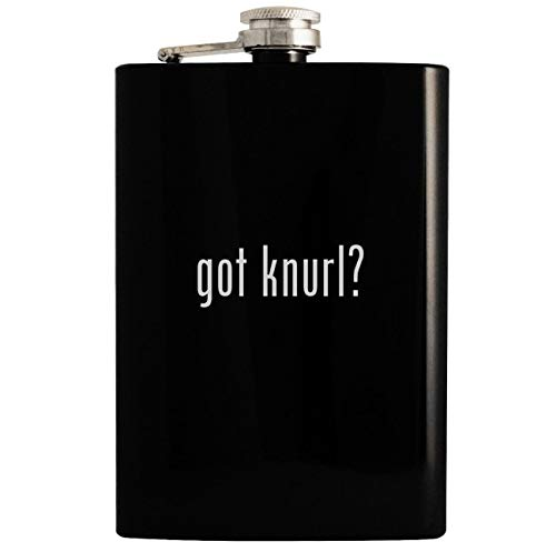 got knurl? - 8oz Hip Drinking Alcohol Flask, Black